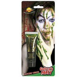 Tube faux sang vert zombie Accessoires de fête 15635GUIRCA