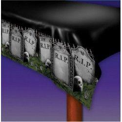 Nappe Halloween motif cimetière 270 cm Déco festive 19909