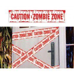 Ruban de signalisation Caution Zombie Zone Déco festive 19917