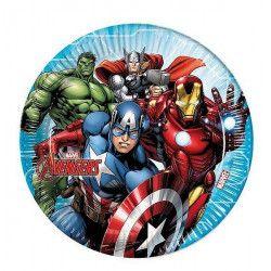 Assiettes jetables anniversaire 23 cm Mighty Avengers™ x 8 Déco festive LAVE87962