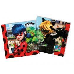 Serviettes anniversaire LadyBug Miraculous™ x 20 Déco festive LMIR91346