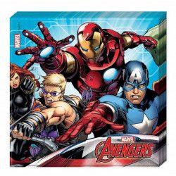 Serviettes anniversaire Mighty Avengers™ x 20 Déco festive LAVE87967