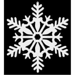 Décor flocon x 4 blanc pailleté 10.2 cm Déco festive 191360