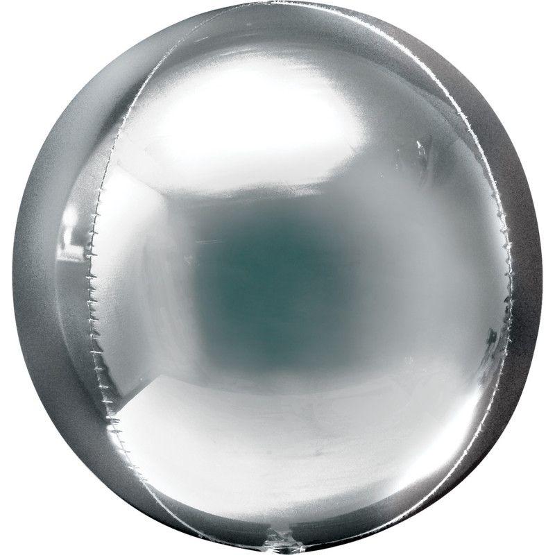 Ballon alu ORBZ 40 cm - Argent Déco festive 2820101