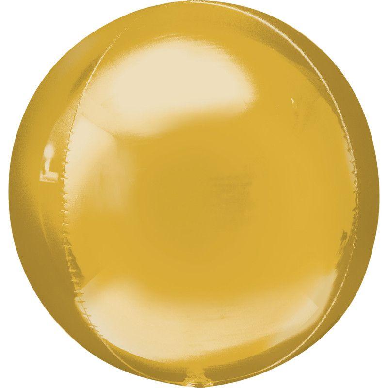 Ballon alu ORBZ 40 cm - Or Déco festive 2820501