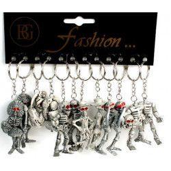 Lot de 12 porte-clés squelette 6.5 cm Jouets et articles kermesse 19207