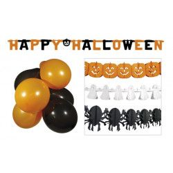 Kit décoration Halloween avec ballons et guirlandes Déco festive 74588