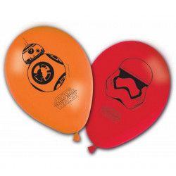 Ballons imprimés StarWars The Last Jedi™ x 8 Déco festive LSWA86228