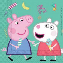 Serviettes anniversaire Peppa Pig™ x 20 Déco festive LPIG91034
