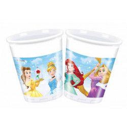 Gobelets plastique Princesse Heart Strong™ x 8 Déco festive LPRI87877