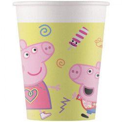 Gobelets carton Peppa Pig™ x 8 Déco festive LPIG91033