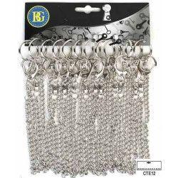 Lot de 12 porte clés mousqueton chaîne Jouets et articles kermesse 19344