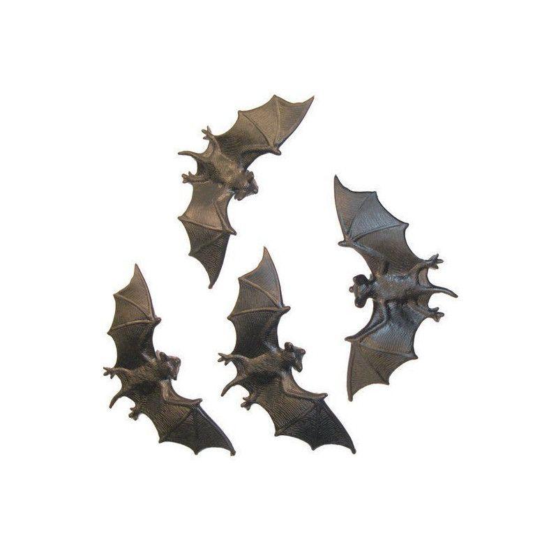 Set de 4 chauve-souris halloween Déco festive 19356