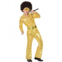 Déguisement disco doré à sequins garçon Déguisements 5690-