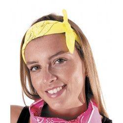 Bandana néon jaune Accessoires de fête 333141