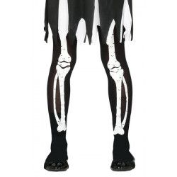Collants squelette noirs et blancs enfant Accessoires de fête 17536
