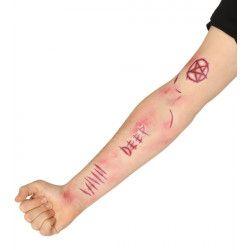 Tatouages cicatrices de démon Accessoires de fête 15706