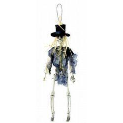 Squelette Smoking 40 cm à suspendre Déco festive 14170