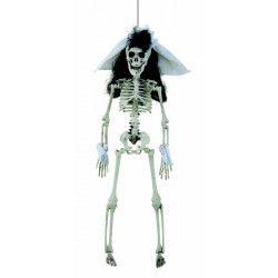 Squelette Mariée 40 cm à suspendre Déco festive 16720