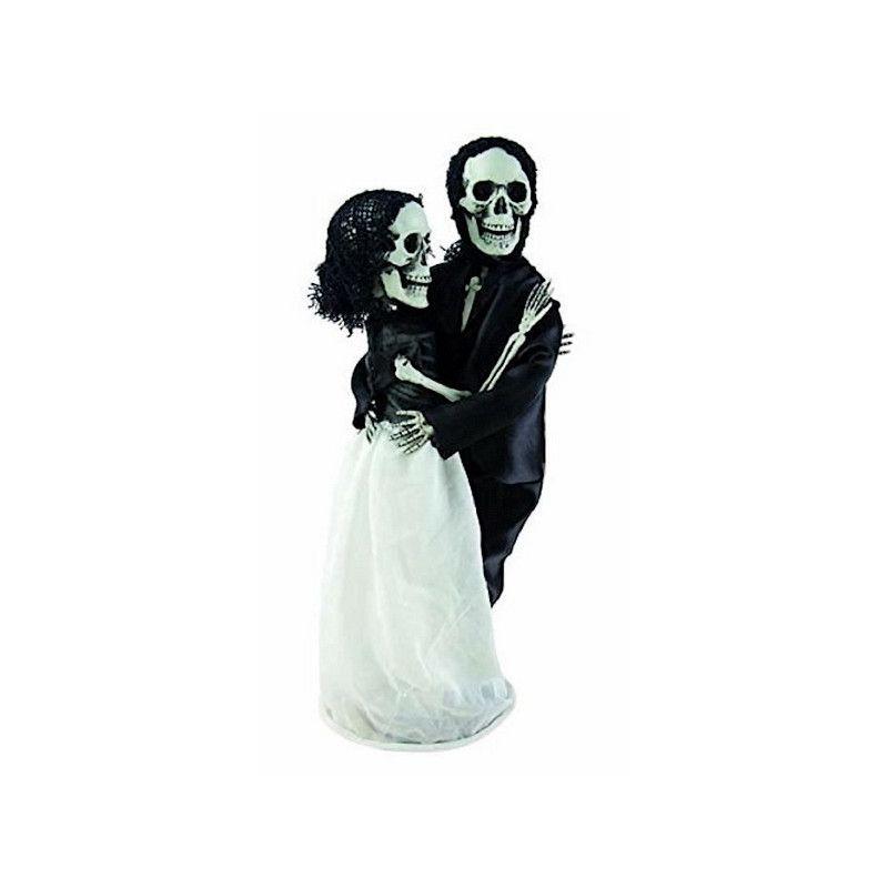Squelettes couple de mariés 40 cm à poser Déco festive 15222CLOWN