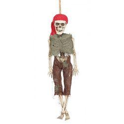 Squelette Pirate 40 cm à suspendre Déco festive 26041