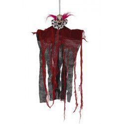 Squelette clown 60 cm à suspendre Déco festive 26391