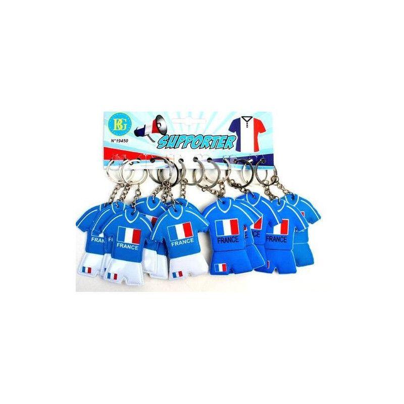 Porte-clés maillot foot France kermesse x 12 Jouets et articles kermesse 19450