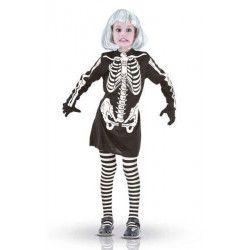 Déguisement squelette noir fille Déguisements 87396-