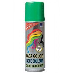 Laque cheveux colorante verte Accessoires de fête FA18011-VERT