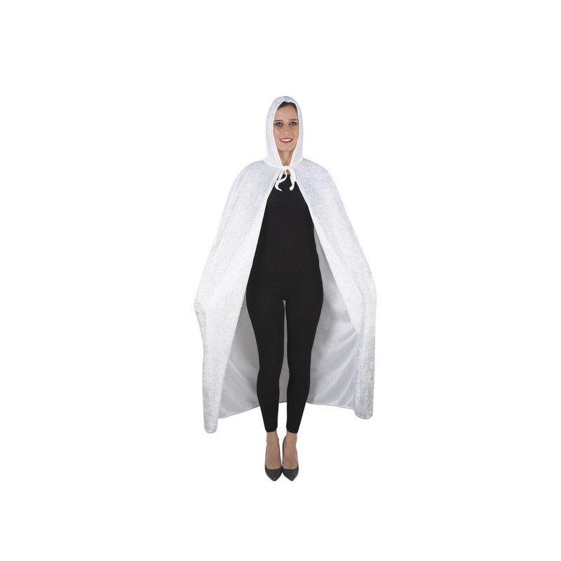Cape velours blanc adulte Halloween 1.40 m Accessoires de fête 16213