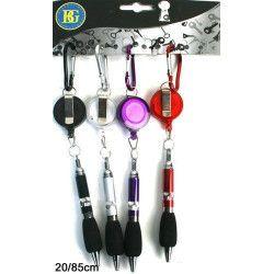 Lot de 12 porte clés mousqueton stylo extensible kermesse Jouets et articles kermesse 19467-LOT