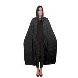 Cape velours noir adulte Halloween 1.40 m Accessoires de fête 16211