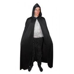 Cape noire adulte Halloween 1.50 m Accessoires de fête 16210