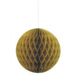 Boule alvéolée dorée 15 cm Déco festive U63225