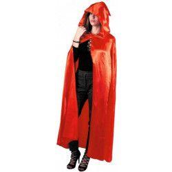 Cape rouge avec capuche adulte 112 cm Accessoires de fête 865146