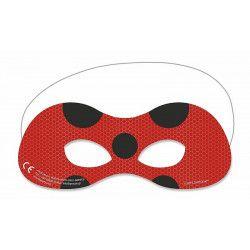 Masques Miraculous LadyBug™ x 6 Accessoires de fête LMIR91352