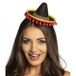 Tiare sombrero mexicain femme Accessoires de fête 54423