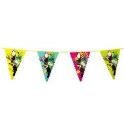 Guirlande fanions colorés Toucans 6 m Déco festive 52570
