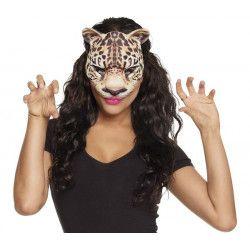 Demi-masque léopard adulte Accessoires de fête 56731