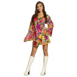 Déguisement robe hippie fleurs femme taille M Déguisements 83879