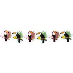 Bannière carton Toucan 160 cm Déco festive 52573