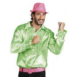 Déguisement chemise disco vert lime homme Déguisements 0212-