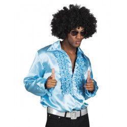 Déguisement chemise disco turquoise homme Déguisements 0215-