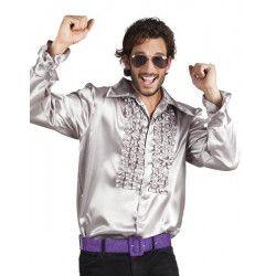 Déguisement chemise disco argent homme Déguisements 02166-