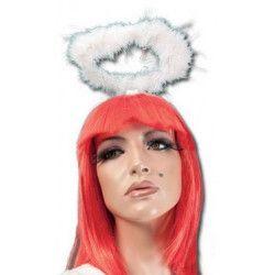 Serre-tête auréole d'ange blanc Accessoires de fête 19560