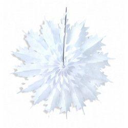 Décoration éventail flocon à suspendre 48 cm Déco festive 50252