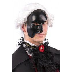 Demi masque noir plastique adulte Accessoires de fête 00181