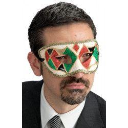 Loup vénitien arlequin adulte Accessoires de fête 00611
