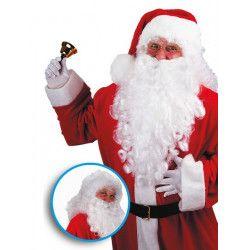 Perruque et barbe blanche 50 cm Père Noël Accessoires de fête 02368