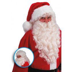 Perruque et barbe ivoire 50 cm Père Noël Accessoires de fête 02369